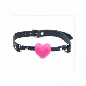 heart shape mouth gag, heart ball gag, heart mouth harness