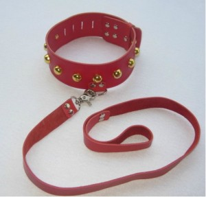 sex play neck collar with leash.