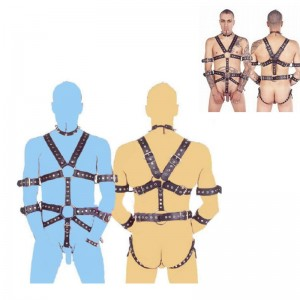 sexy male body harness, bondage male body harness, male leather bodysuit