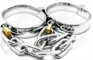 Quality Metal Ankle Cuffs with Chain Shackles Male Female Unisex from china online store