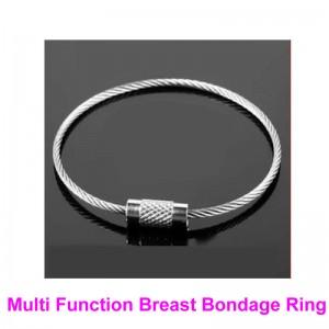 breast bondage rings, breast bondage gear, breast restraint rings