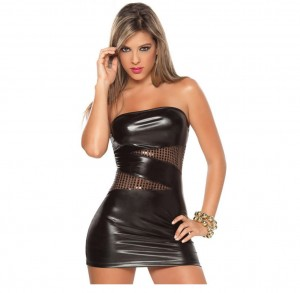 female leather lingerie, female sexy lingerie, silver female lingerie