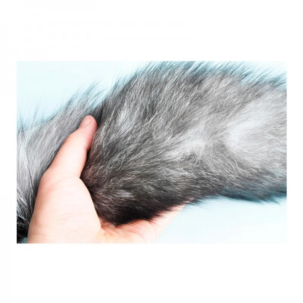 large anal plug with fox tail