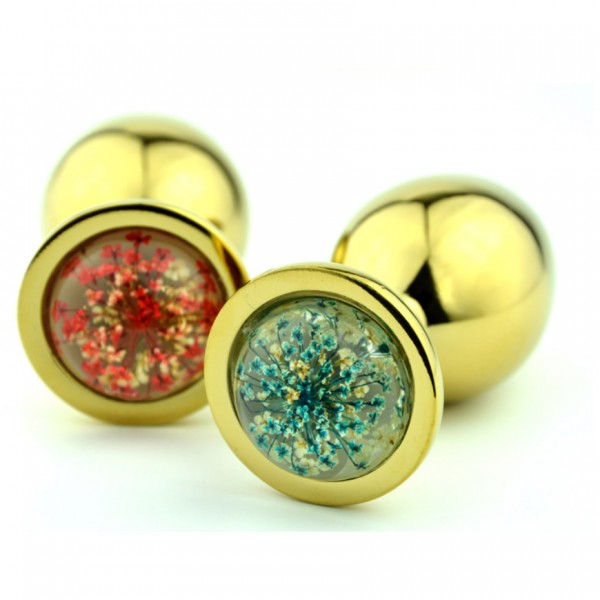 star jewelry anal plug, gold metal anal plug, colorful jewelry anal plug