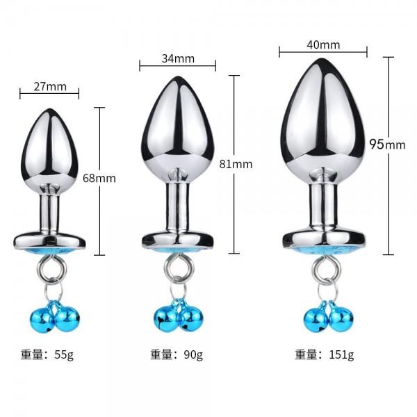 Heart anal plug, anal plug bell, anal plug leash