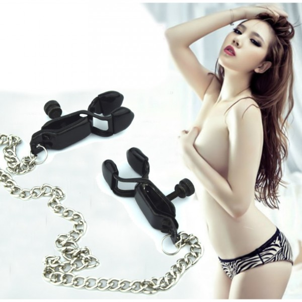new design nipple clamps, bdsm nipple clamps, black nipple clamps