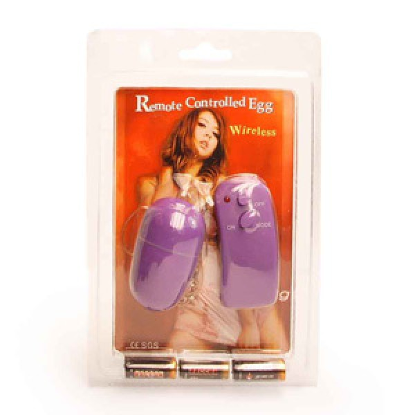 Classic remote controlled vibrating egg.