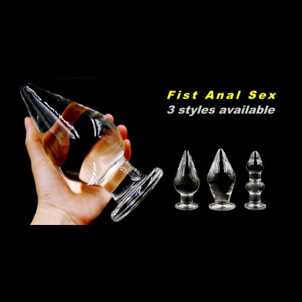 fisting anal plugs, large glass anal plug, large anus dilator