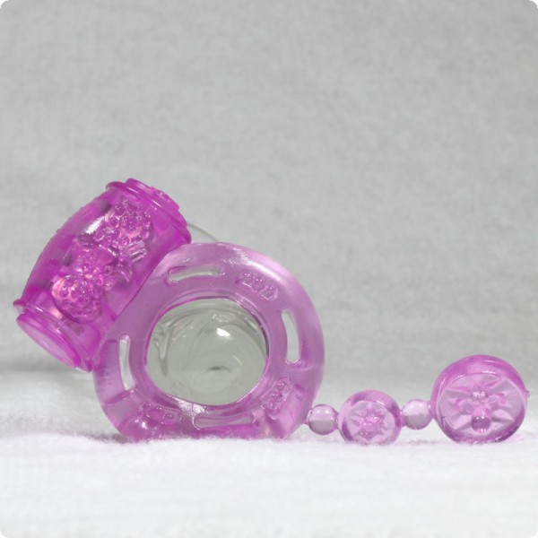 Sex toy vibrating penis ring.