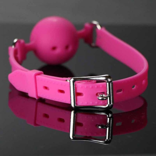 pure silicone mouth gag, pink silicone mouth gag, large mouth gag