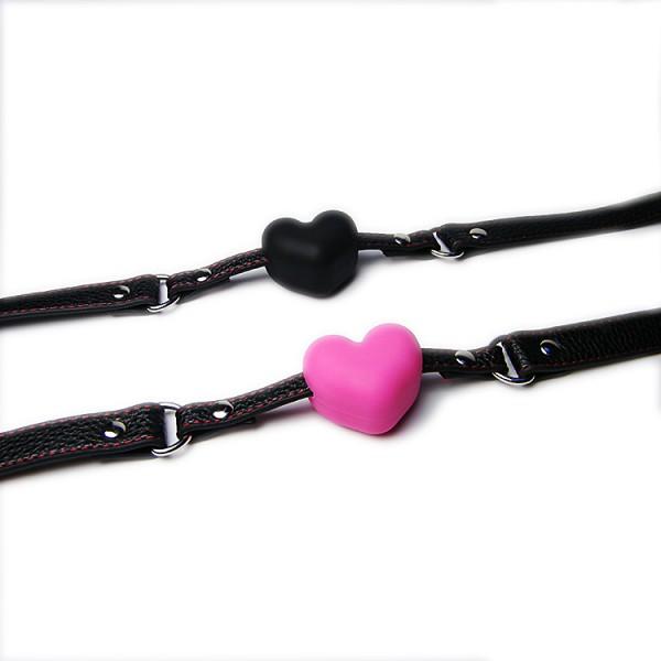 heart shape mouth gag, heart ball gag, heart mouth harness