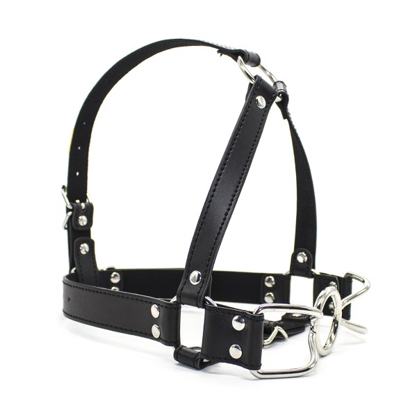 leather mouth gag, bdsm head harness, dildo mouth gags