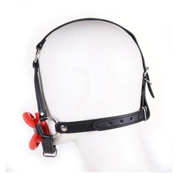 leather mouth gag, bdsm head harness, throat fuck gag