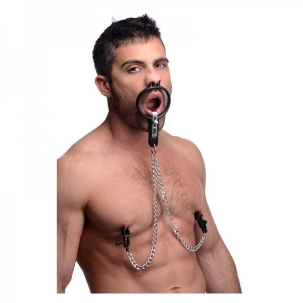 Open mouth gag, deepthroat mouth gag, deepthroat sex gag