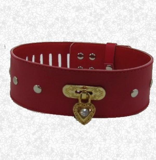 bdsm heart neck collar.