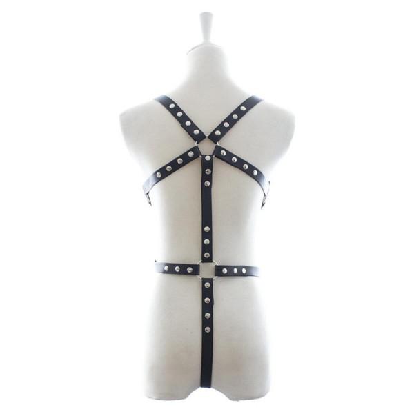 Body Bondage Harness, bondage Leather Suspenders, female body bondage