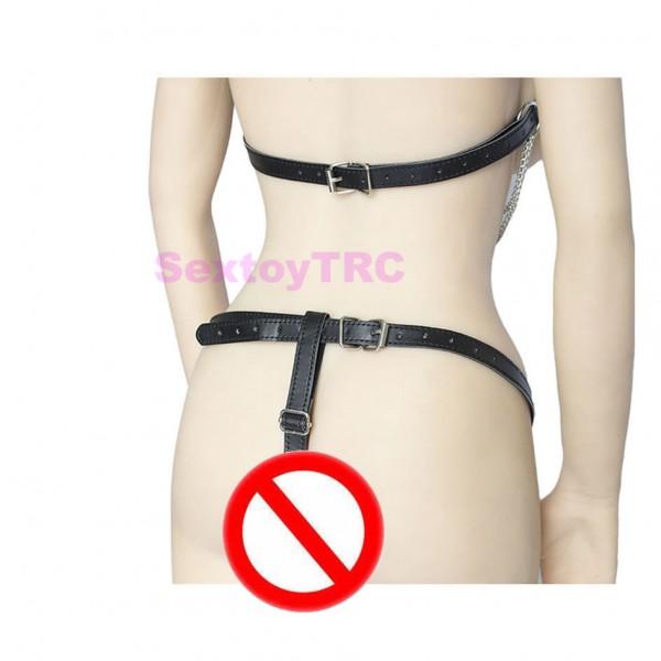 chain body harness, sexy chain harness, female chain costume