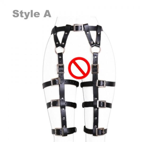 leather garter belts, female bondage gear, female legs bondage