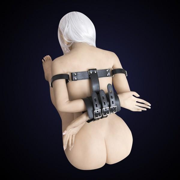 Arm restrained cuffs, arm bondage cuffs, body bondage harness