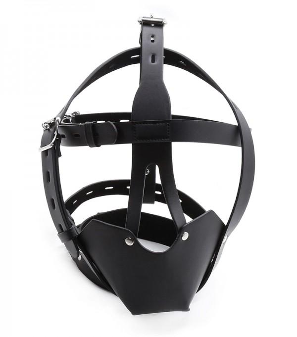 new design bondage hood, leather bondage mask, bdsm bondage muzzle
