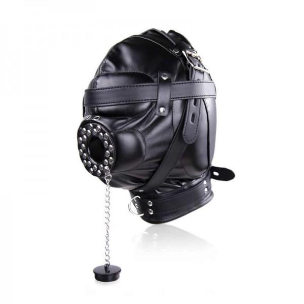 Bondage Gear Hood, Full Cover Muzzle, gimp bondage hood