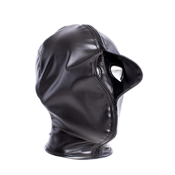 Full cover hood, bondage gear hood, bondage head mask