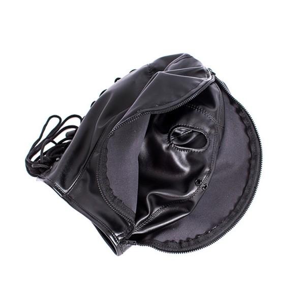 Full cover hood, bondage gear hood, bondage head mask