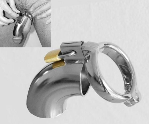 steel male chastity penis lock.