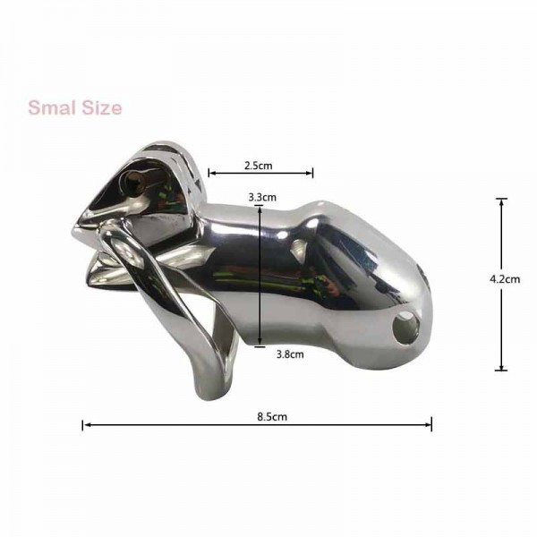 Male chastity device, long chastity device, short chastity device