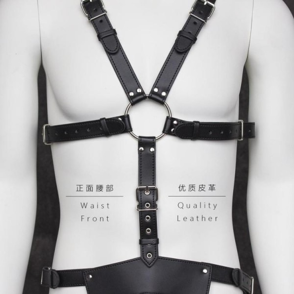 Masculine Body harness, male leather harness, male chest harness