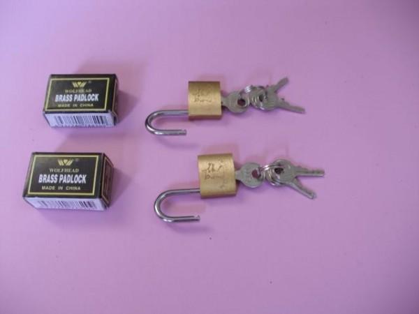 bondage gear accessory brass padlock.