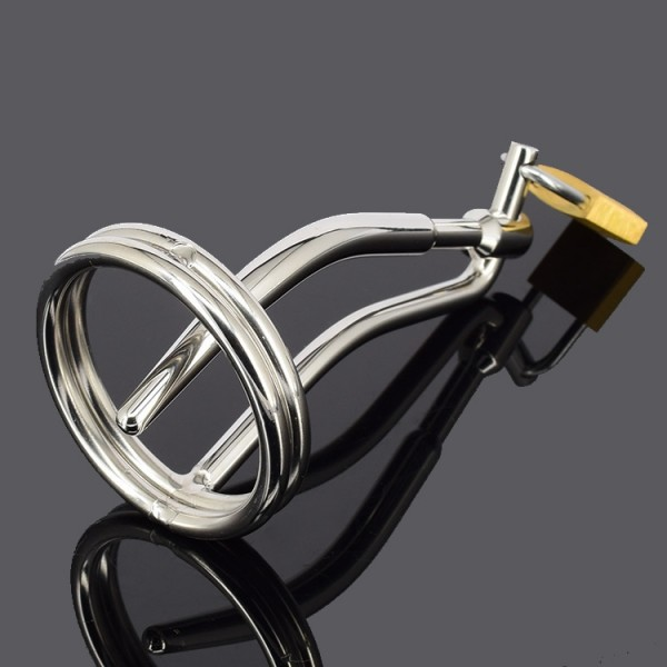 Male Penis Urethral Plugs Cage with Padlock Men Chasity Device Stainless Steel Urethral Sound