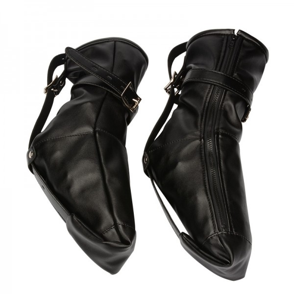 feet bondage bag, ankle restrain gloves, feet bondage gear