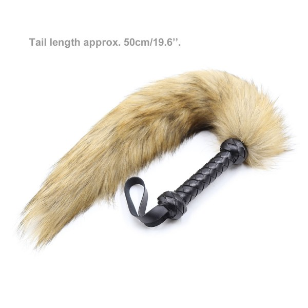 Leather fur whip, sex fur whip, leather fur flogger
