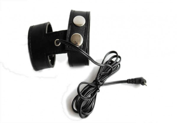 electric leather penis ring, electrical scrotum ring, electric shock scrotal bondage