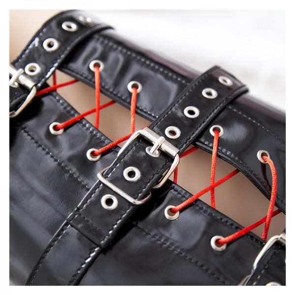 Bondage leg binder, leg bondage gear, calf bondage gear