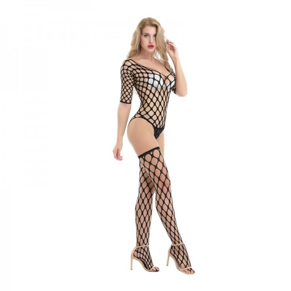 Fishnet body stocking, thigh high stocking, sexy body stocking