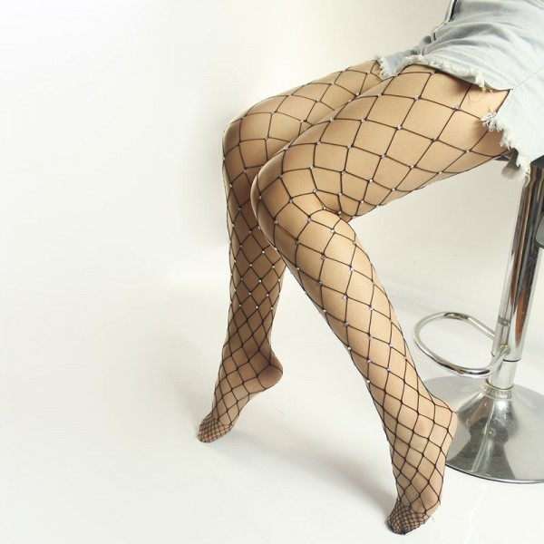 Diamond body stocking, sexy diamond pantyhose, diamond mesh stocking