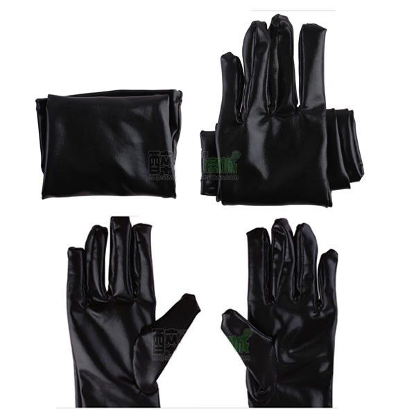 sexy patent leather gloves