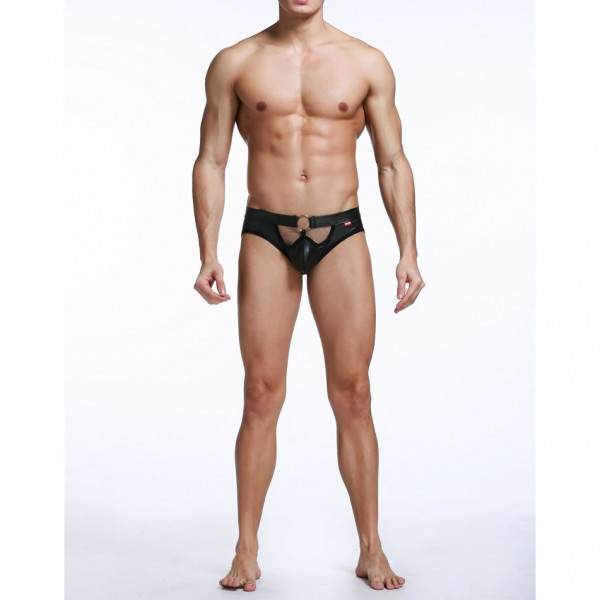 New design male lingerie, male leather panties, male pvc lingerie